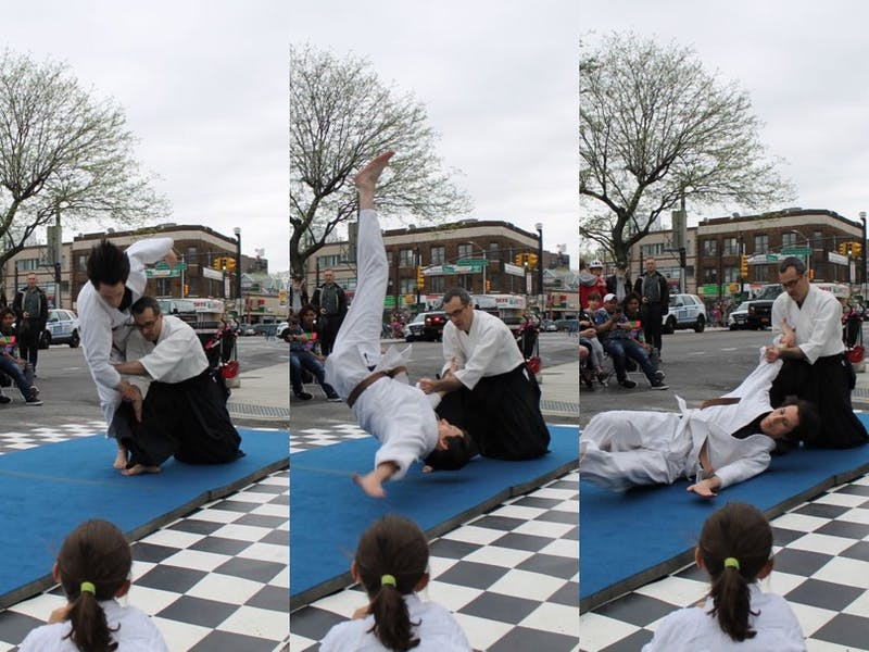 Adult Aikido demonstration given at the 2018 Church Ave Street Festival in Brooklyn, NY